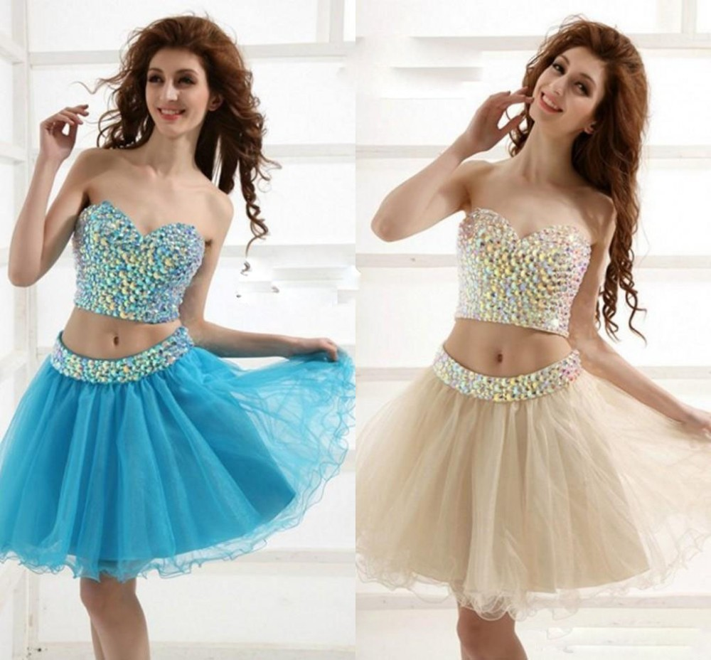 2 Piece Short Prom Dresses Cheap - Review 2017