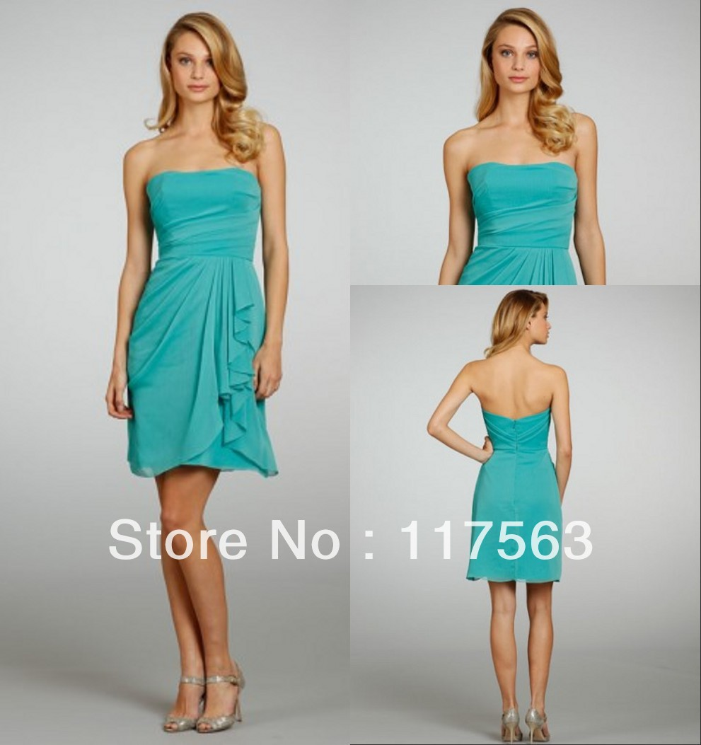 Beach color dresses review 2017 always fashion beach bridesmaid dress aqua color bd034 bridesmaid dress 1 custom made ombrellifo Gallery