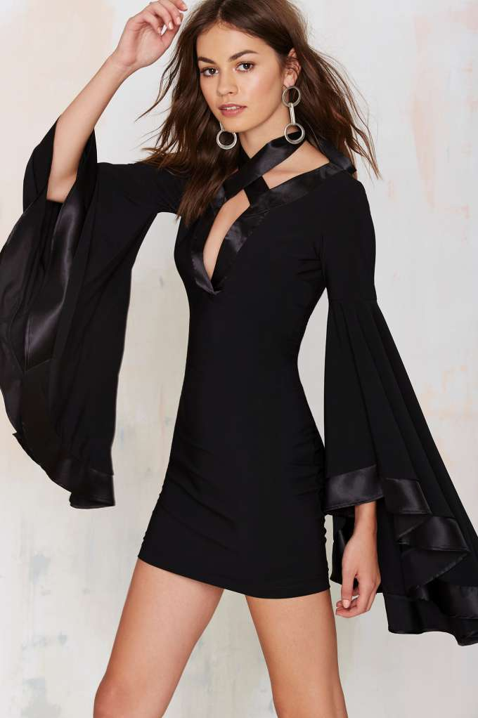 Bell Sleeve Short Dress - Popular Styles 2017