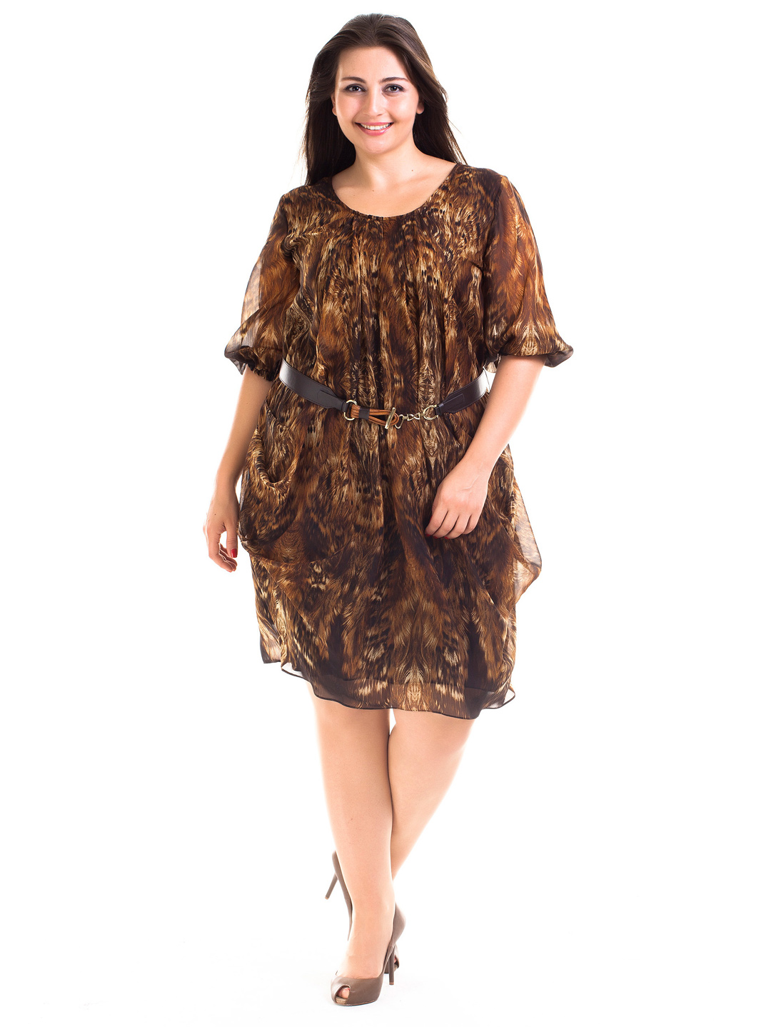 Our dresses are available in sizes 12 to 44 (S to 6X), and were designed to flatter your curves, helping you look your best regardless of where the moment takes you. For formal events, check out our plus size special occasion dresses, like the Valentina Illusion Dress with body-shaping technology, lace half sleeves, and silhouette-enhancing.