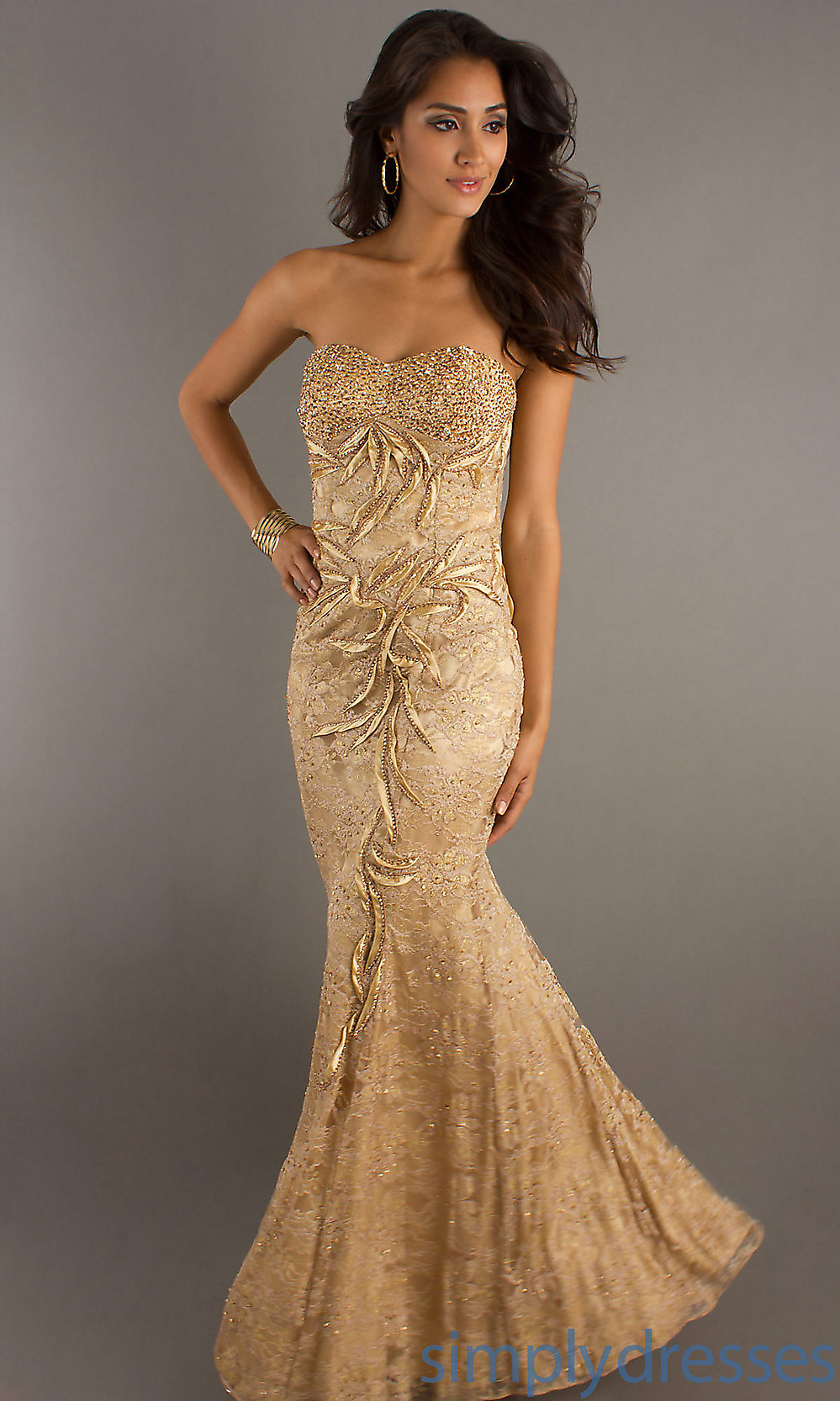 Black And Gold Dress Long : 2017-2018 Fashion Trend