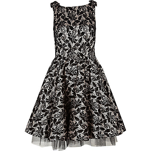Black Lace Dress River Island : 2017-2018 Fashion Trend