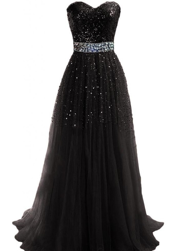 Black Maxi Sequin Dress And Perfect Choices