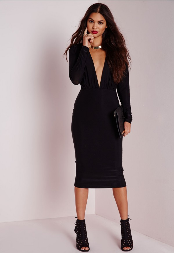 Long sleeve midi dress size 18