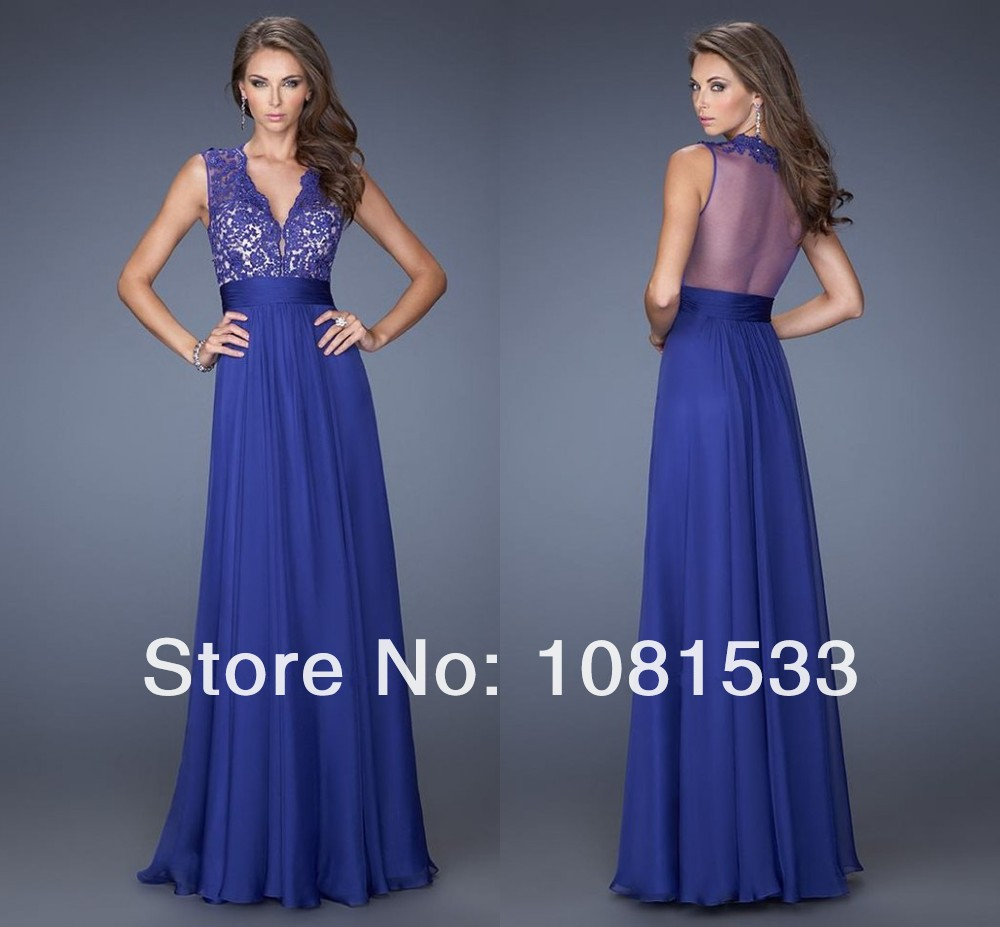 Blue Dress With Lace Top & Best Choice