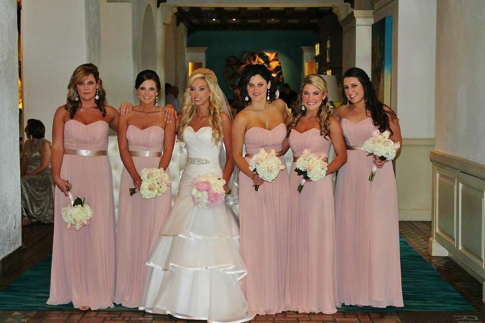 Blush bridal bridesmaid dresses and make you look like a for Blush and gold wedding dress
