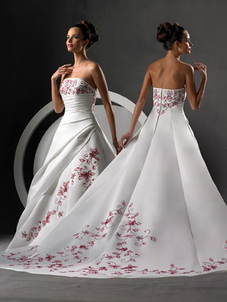 Bridesmaid Dresses In Red And White & Elegant And Beautiful