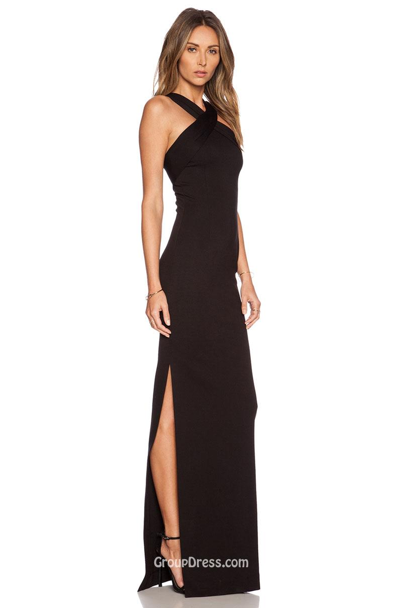 Long dresses halter
