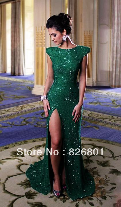 Emerald Green Mermaid Gown - Fashion Outlet Review