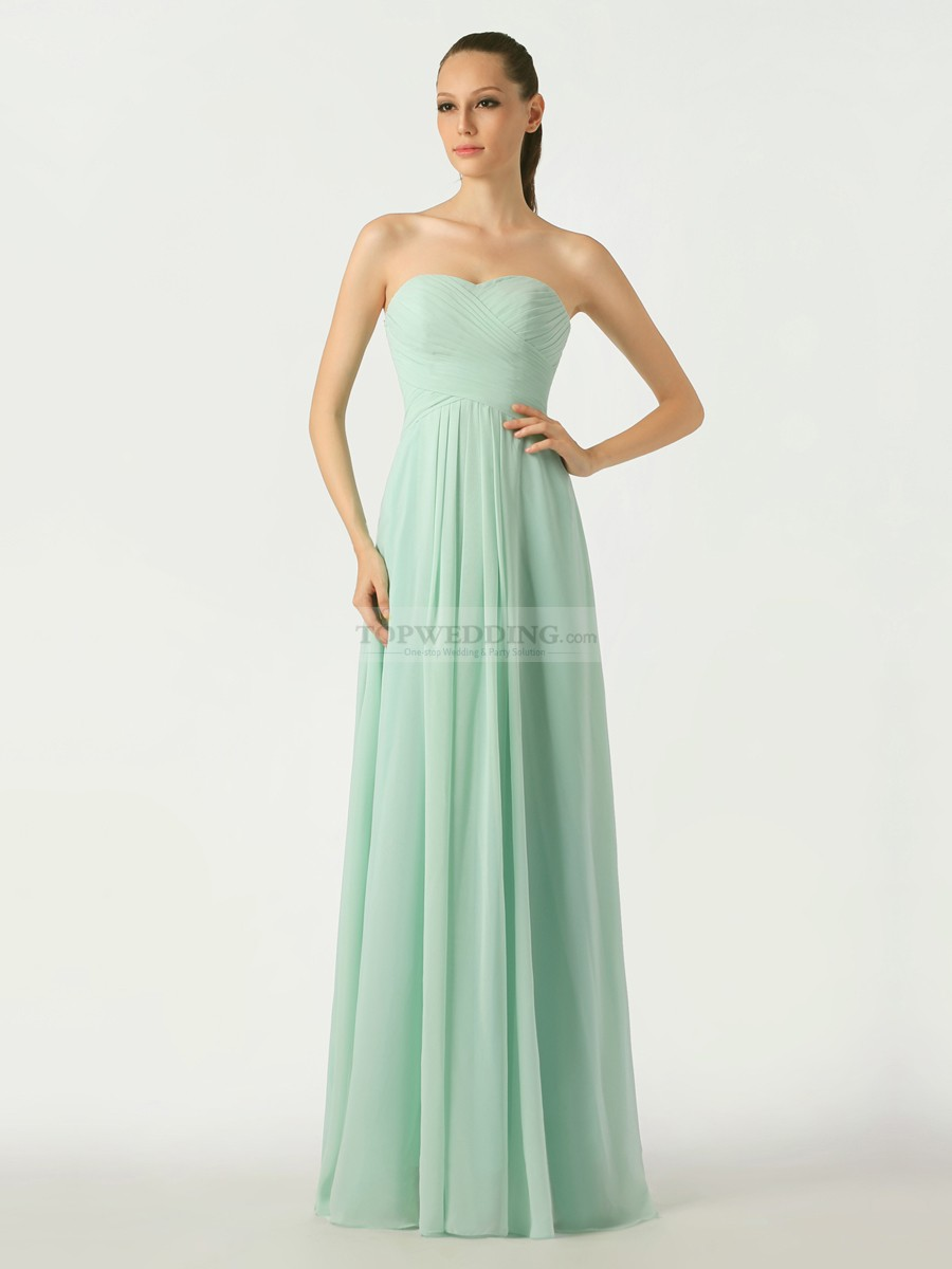 Light Green Chiffon Bridesmaid Dresses - Wedding Dress Ideas