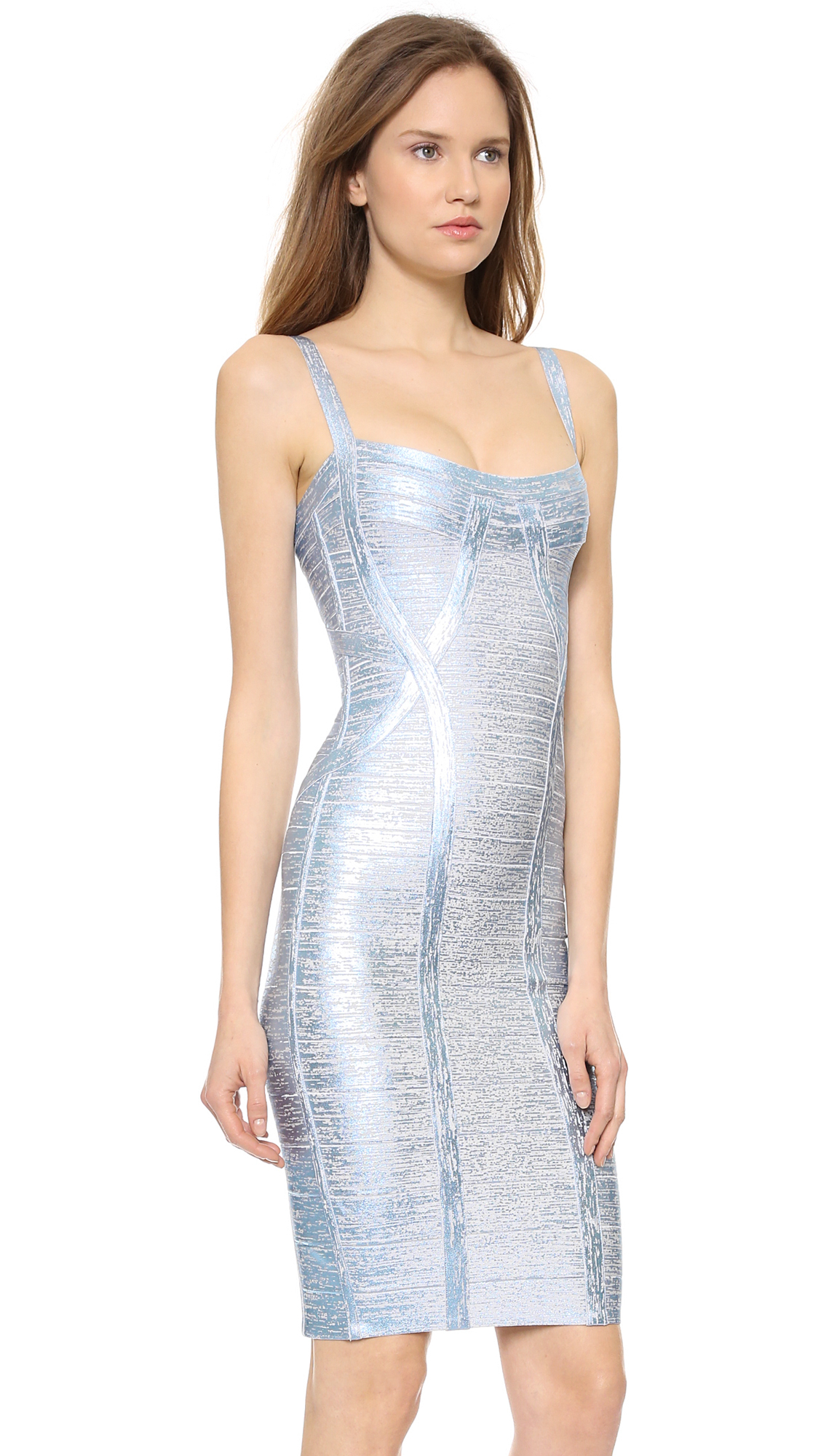 Grey Metallic Dress And The Trend Of The Year