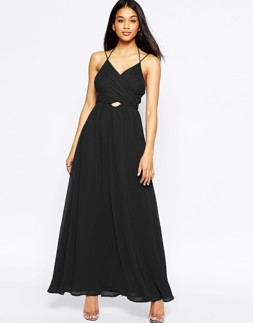 Halter Neck Black Maxi Dress : New Fashion Collection