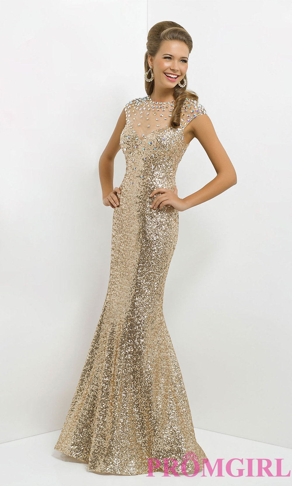 Long Black Dress With Gold Sequins & Best Choice – Always ...