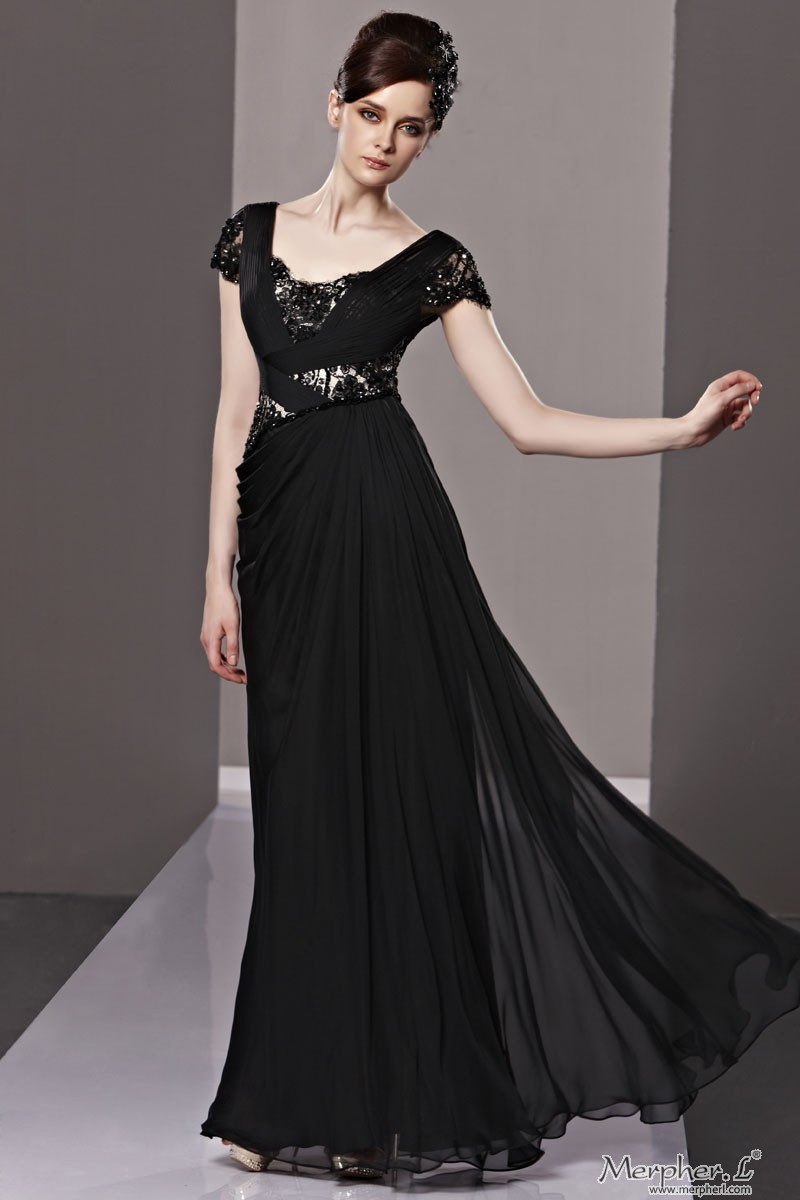 Long dress on short girl clothes review always fashion for Long sleek wedding dresses