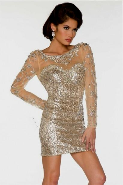 Long Sleeve Champagne Sequin Dress And Perfect Choices – Always ...
