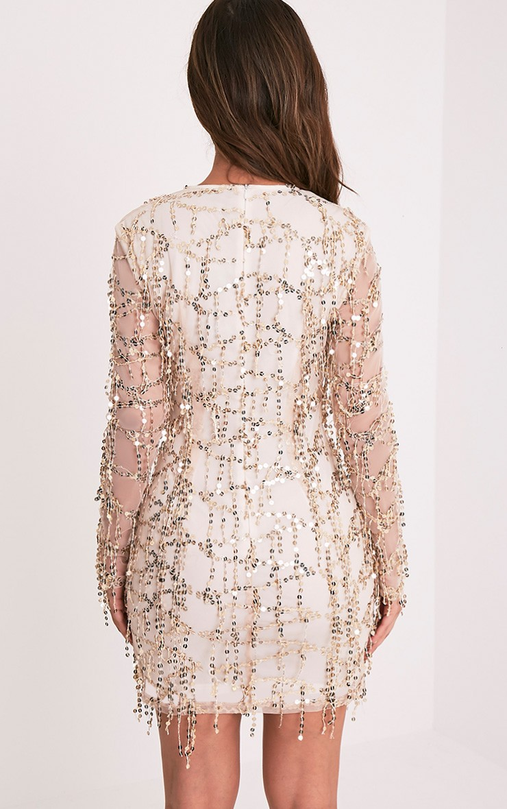 Long Sleeve Rose Gold Sequin Dress : 35+ Images 2017-2018
