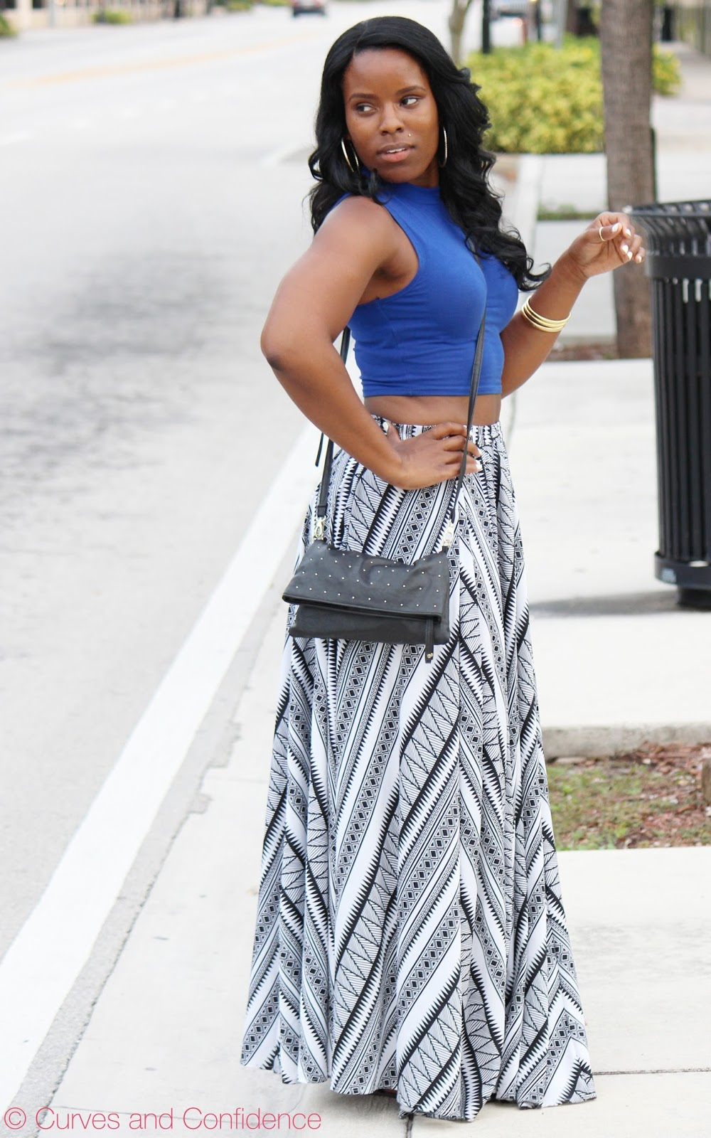 Maxi skirts and dresses for short people