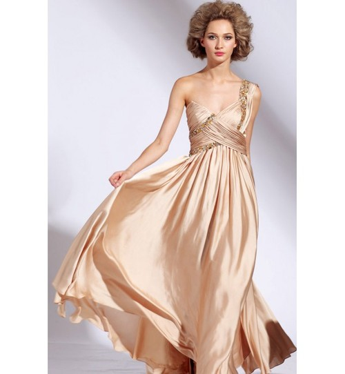 Metallic Champagne Dress - Fashion Outlet Review