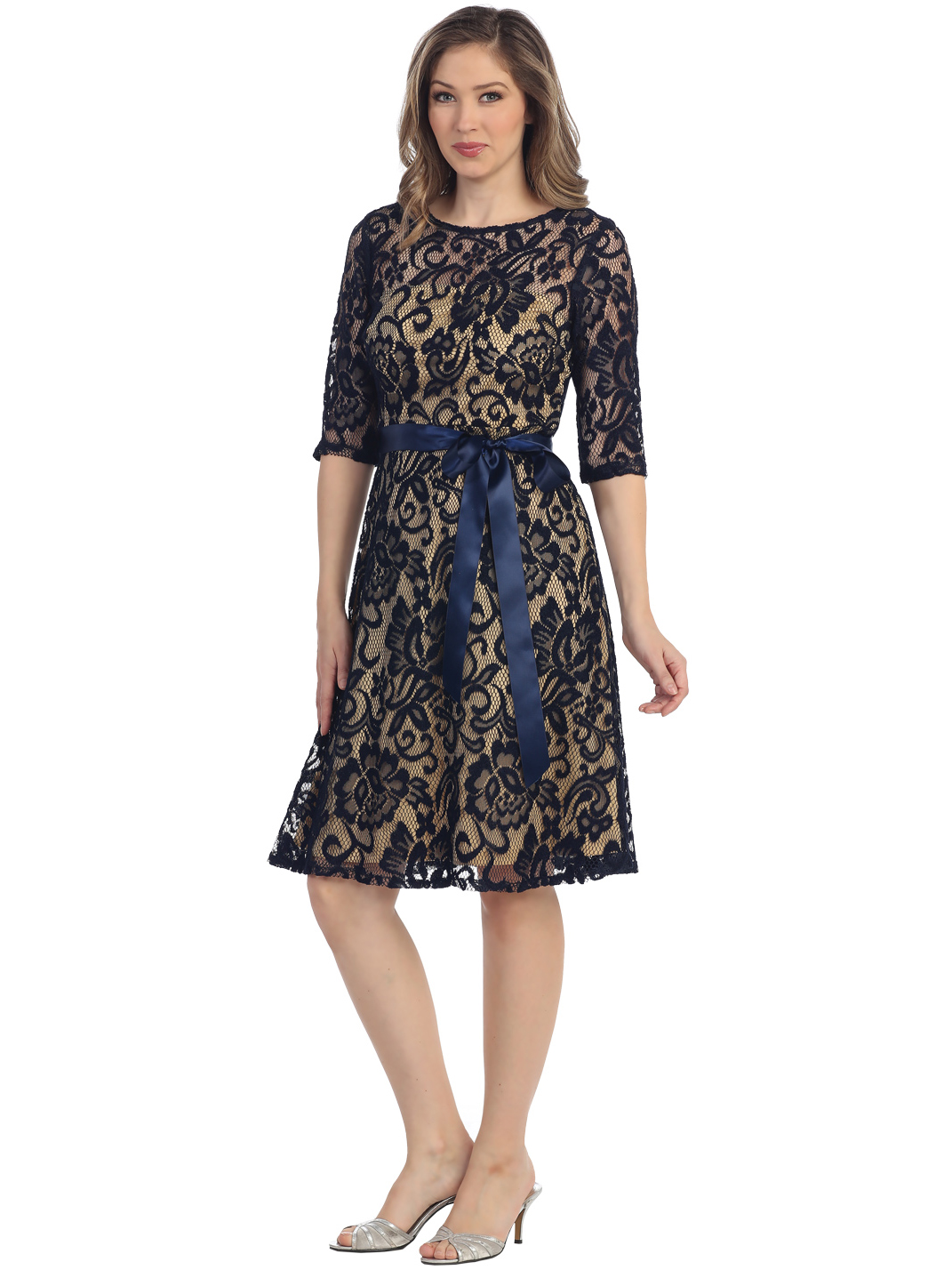 Navy And Gold Lace Dress Things To Know Always Fashion