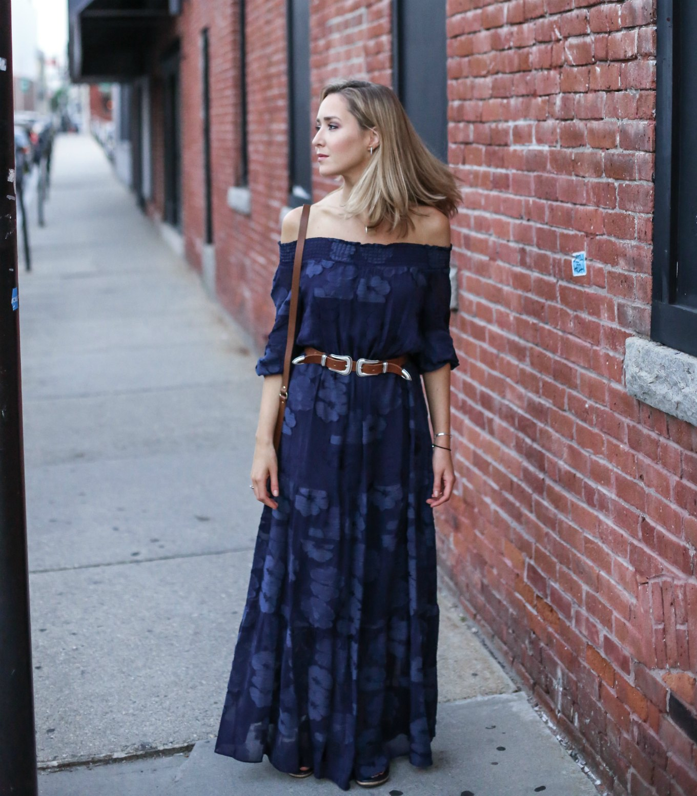 Navy Off The Shoulder Maxi Dress - How To Pick
