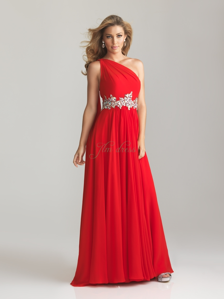 One Shoulder Red Bridesmaid Dresses : Make Your Evening Special ...