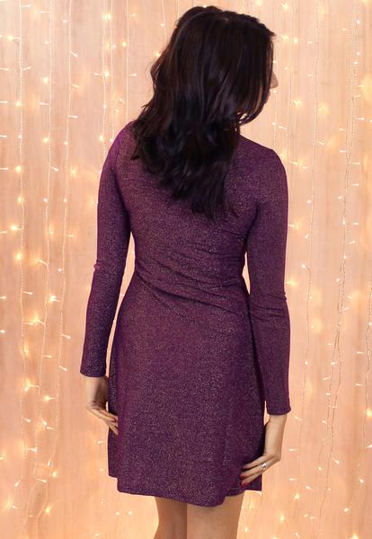 Purple Metallic Dress - Review 2017