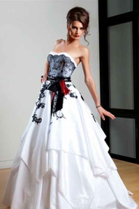 Red Black And White Bridesmaid Dresses And Fashion Week Collections ...