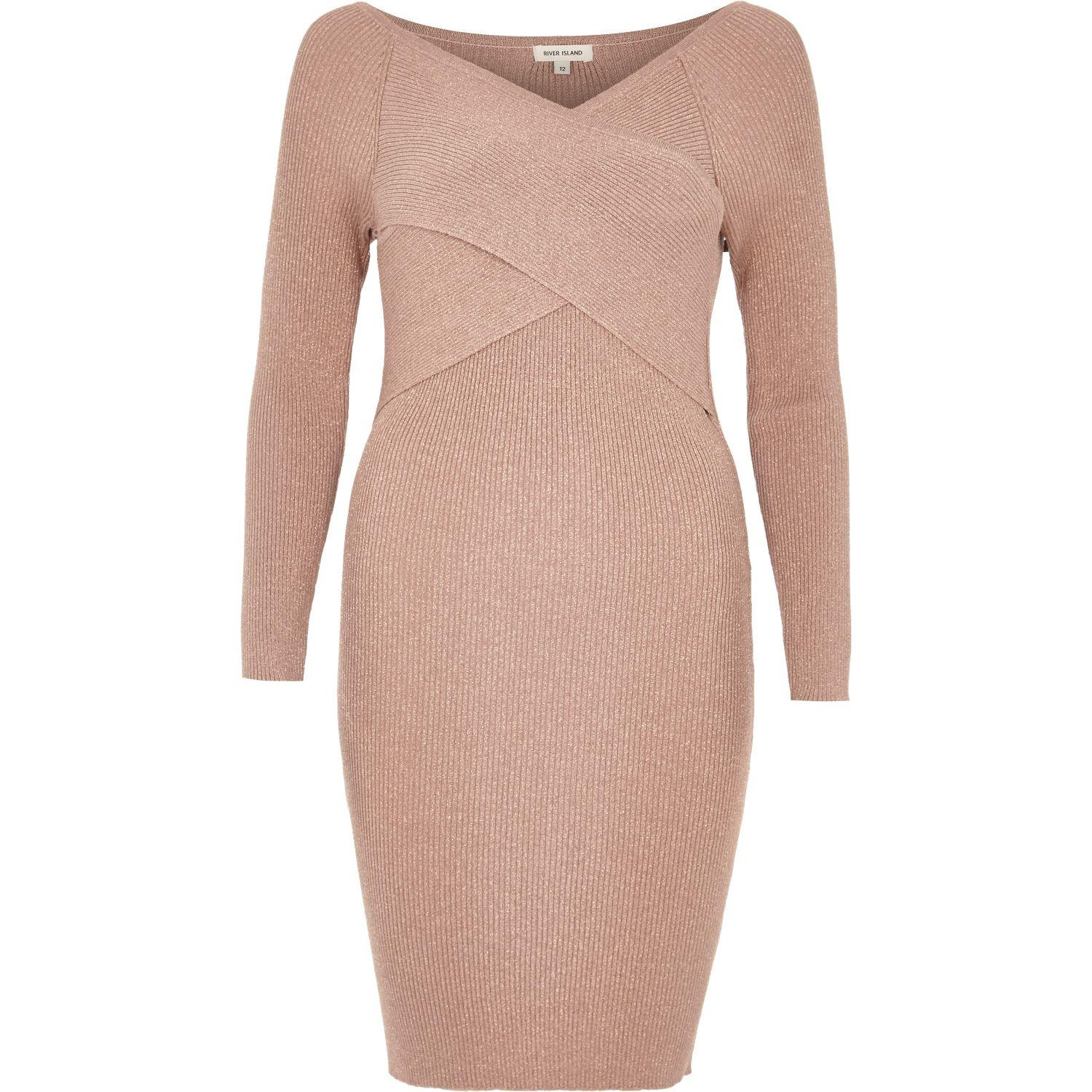 River Island Glitter Bodycon Dress - Oscar Fashion Review