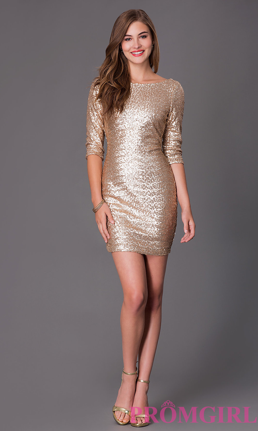 Short Gold Glitter Dress And The Trend Of The Year ...