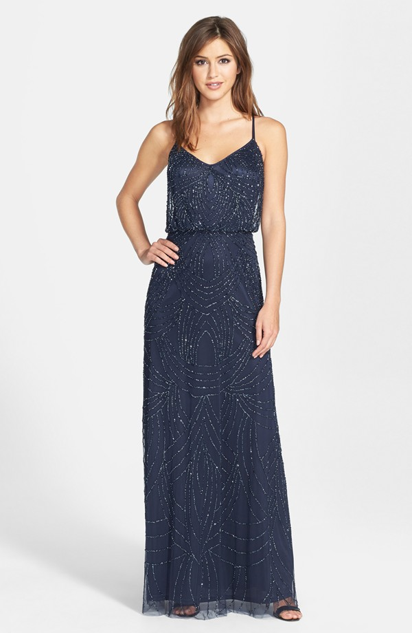 Sparkly Navy Bridesmaid Dresses - Best Choice