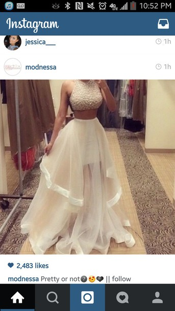 two piece white and gold prom dress a wonderful start always fashion
