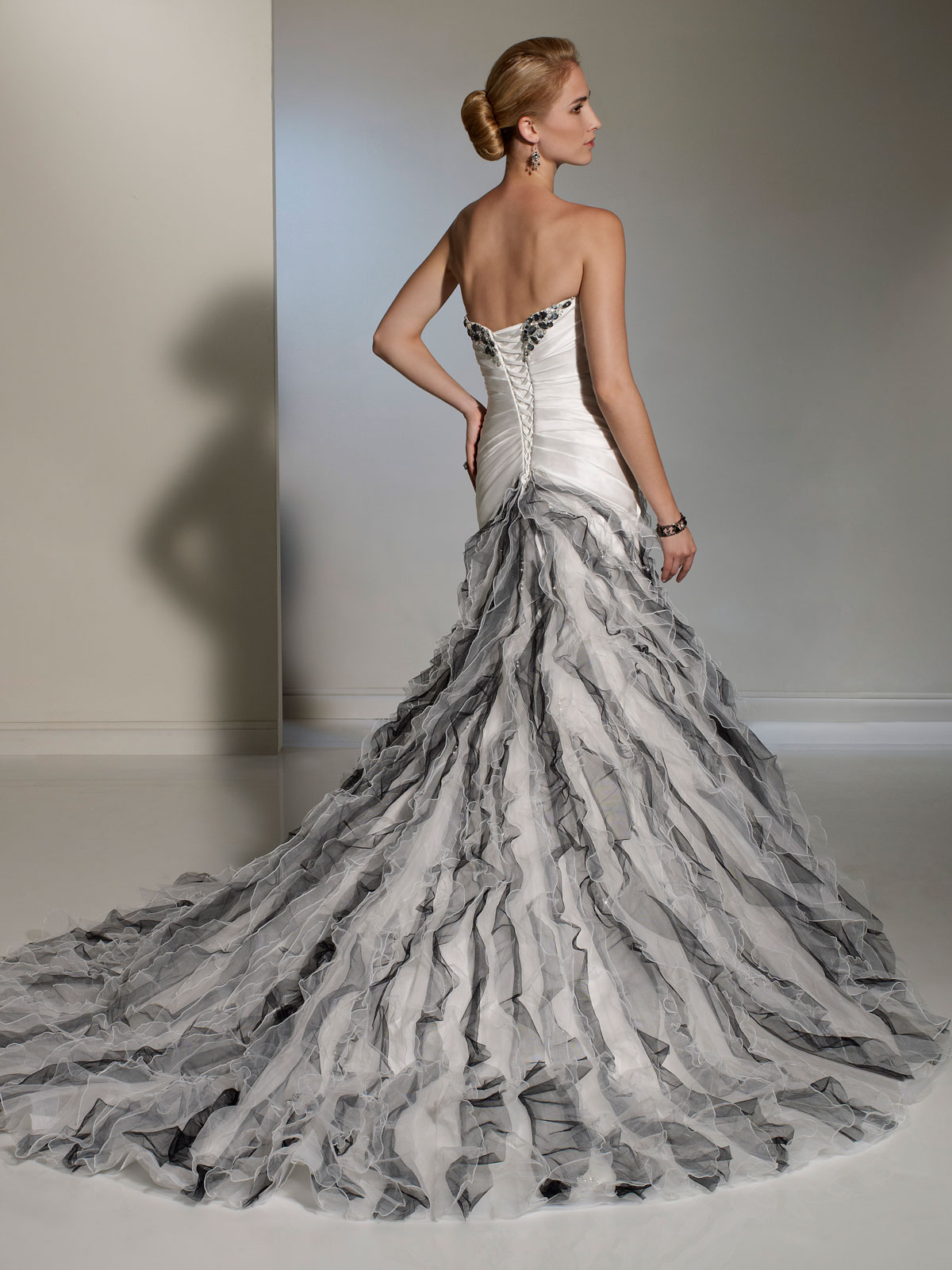 White And Silver Gown & Always In Fashion For All Occasions