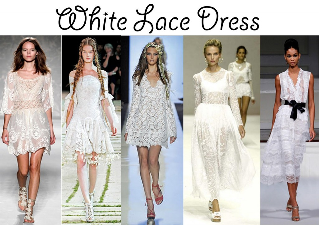 White Lace Going Out Dress & How To Look Good 2017-2018