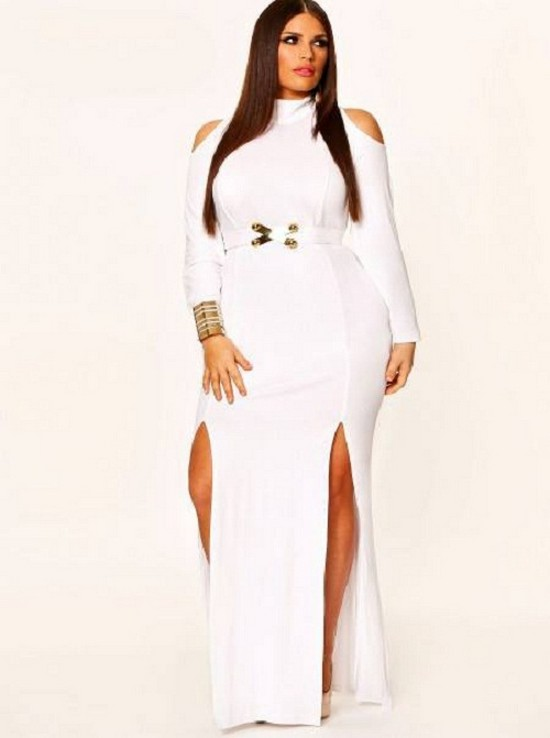 White Plus Size Dresses For Parties & How To Look Good 2017-2018 ...