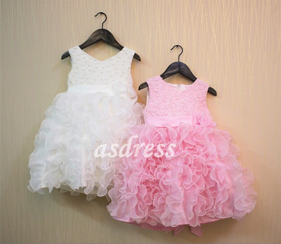 Baby Girl Pink Party Dress : Elegant And Beautiful