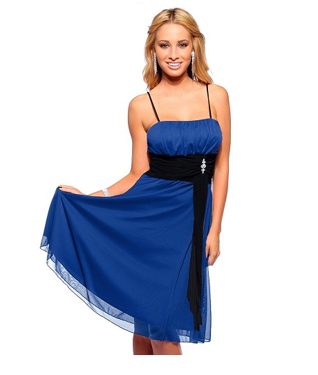 Black And Blue Formal Dress : Make Your Evening Special