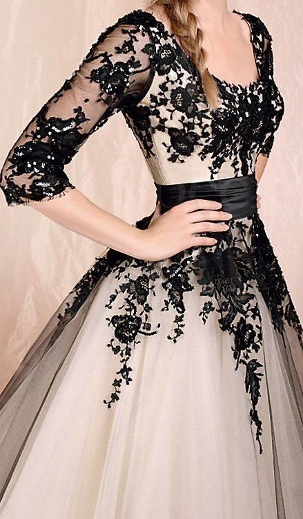 Black Dress With White Lace Top : Always In Style 2017-2018