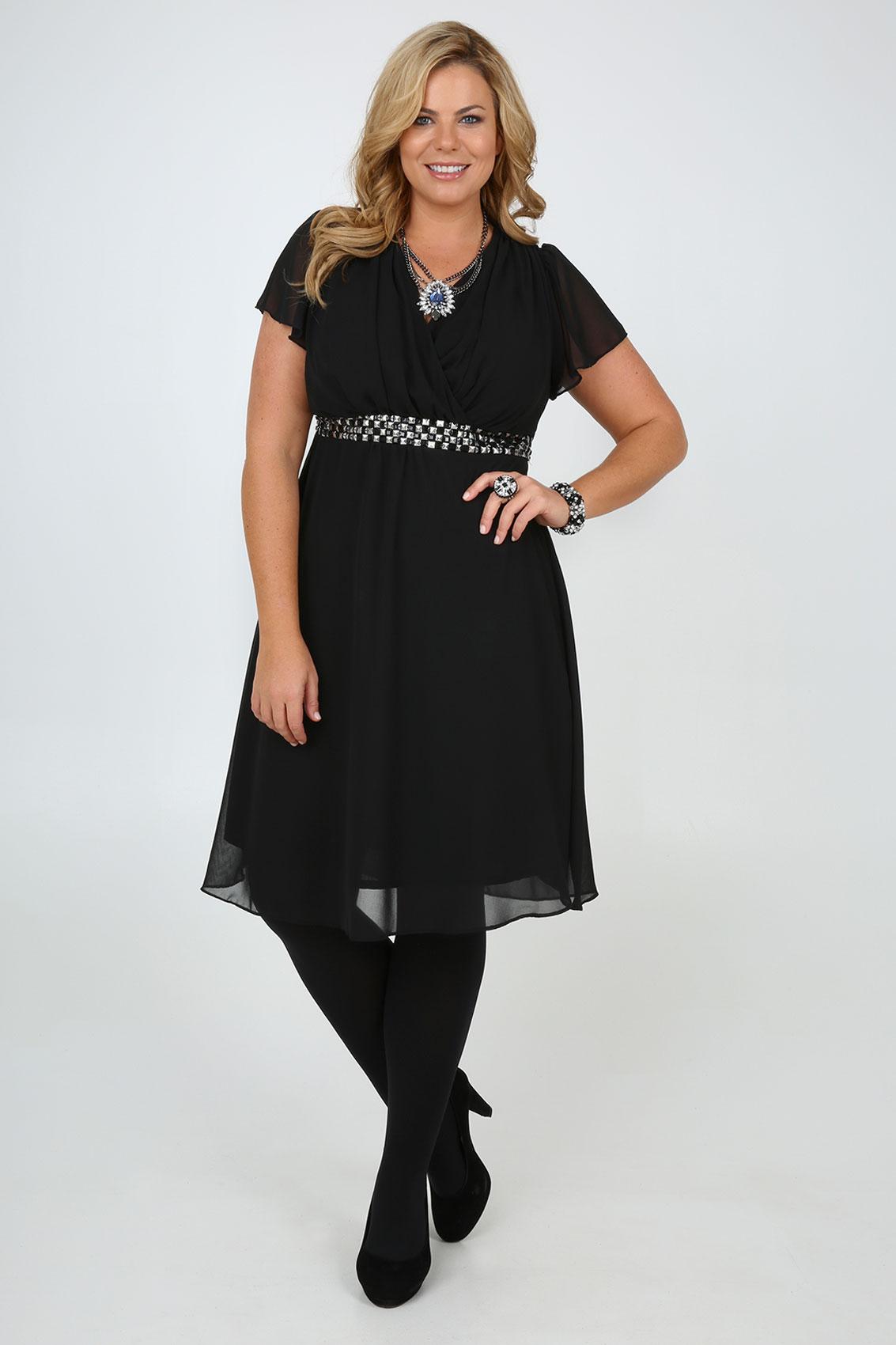 Black Midi Dress Size 18 - Make You Look Like A Princess