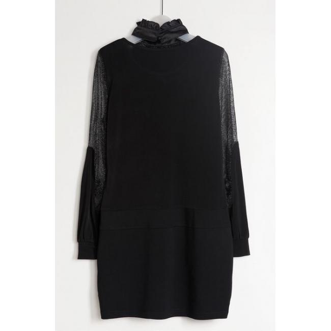 Black Single Piece Dress - Beautiful And Elegant