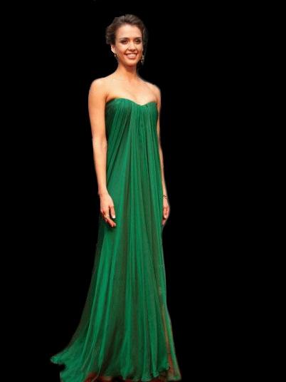Emerald Satin Gown - Best Choice