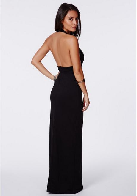 Halter Neck Black Maxi Dress : New Fashion Collection