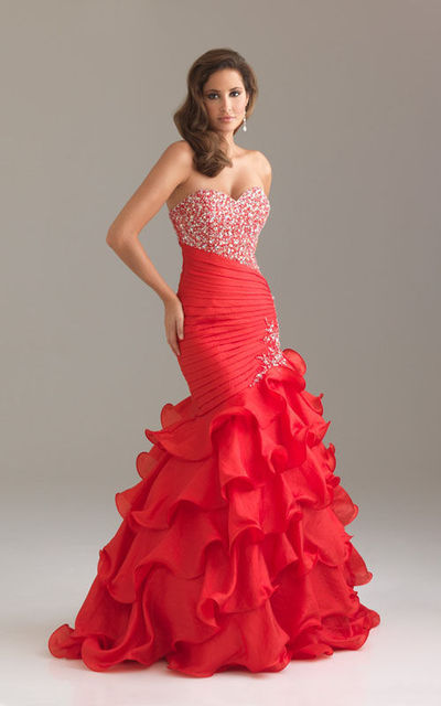 Long Red Fitted Dress & Perfect Choices