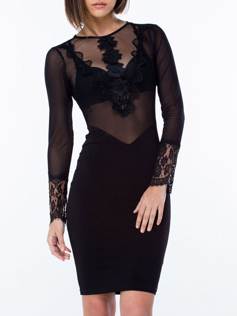 Long Sleeve Backless Bodycon Dress - Style 2017-2018