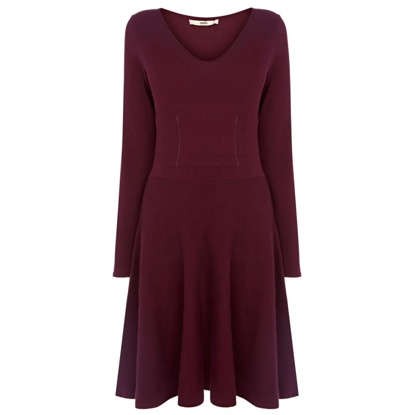 Long Sleeve Fit N Flare Dress - Choice 2017