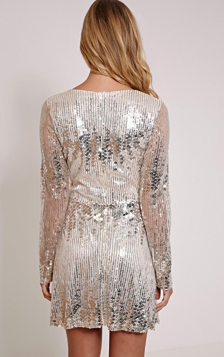 Long Sleeve Rose Gold Sequin Dress : 35+ Images 2017-2018