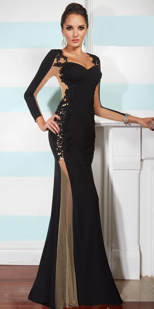 Long Sleeved Full Length Evening Dresses & Always In ...