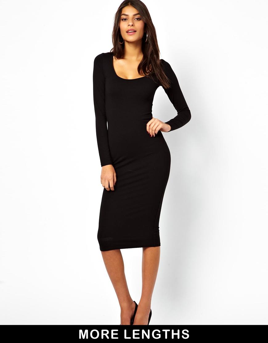 Midi Bodycon Dress Black : Elegant And Beautiful