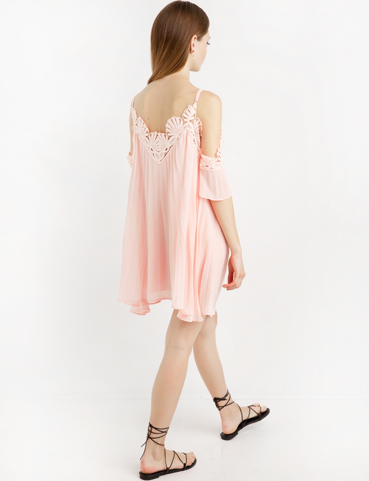 Pink Lace Off The Shoulder Dress & Always In Fashion For All Occasions