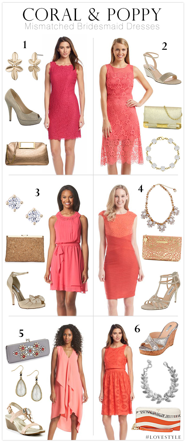 Poppy Colored Bridesmaid Dresses & The Trend Of The Year