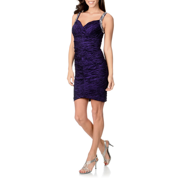Purple Metallic Dress - Review 2017